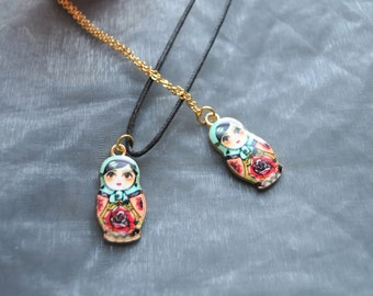 Russian Doll Necklace // Matryoshka Necklace // Babushka Necklace  // Nesting Doll Necklace