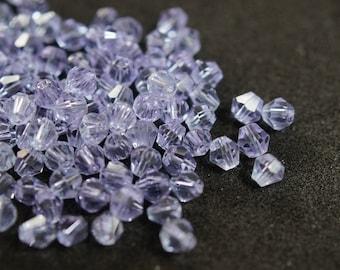 25 BICONES 4 mm Crystal purple N47