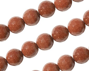 15 IN Strand 4 mm Goldstone Round Faceted Gemstone Beads (GLDRNF0004)