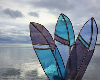 Stained Glass Feather Sun Catcher Custom 3 Feather Bundle