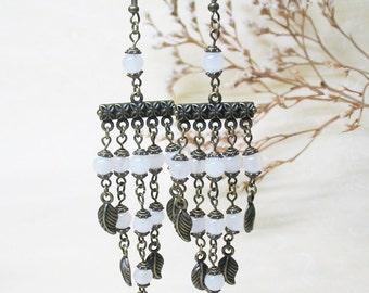 Chandelier Earrings Ethnic Earrings Crystal Earrings Gemstone Earrings Romantic Earrings Boho Earrings Bohemian Earrings FREE SHIPPING