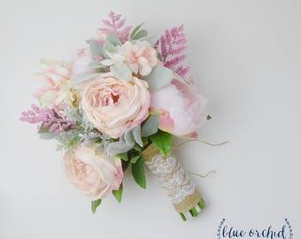 Wedding Bouquet, Bridal Bouquet, Boho Bouquet, Pink Bouquet, Hot Pink Bouquet, Silk Flower Bouquet, Faux Bouquet, Faux Flowers, Boho Wedding