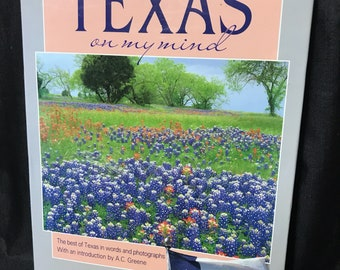 """Vintage Book """"Texas on my Mind"""" Coffee Table Book"""