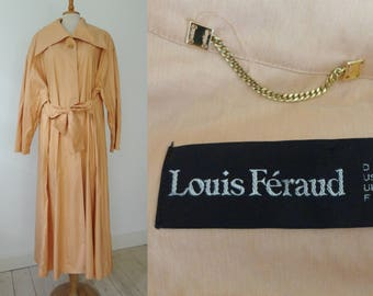 Abricot Louis Feraud Vintage Coat  // Oversize // Big Collar // Size EU 38 - US 8 // Made In France