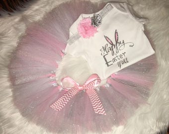 Happy Easter y'all   Easter onesie   Onesie set   Baby clothes   Pregnancy   Maternity