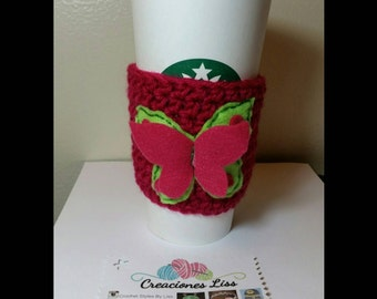Crochet Coffee Cozy Cup