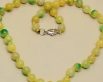 Yellow Jade Gemstone Necklace ON SALE