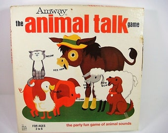 Animal Talk Game Amway Animal Talk by Amway 1971