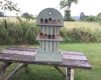 Painted antique  style primitive spoon rack