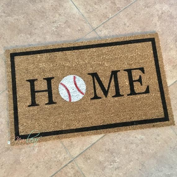 Baseball Home Decor: Home Doormat Baseball Doormat Baseball Decor Home