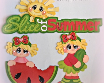 Summer Girl Scrapbook Page Card Paper Piecing Embellishment Die Cut Elite4u