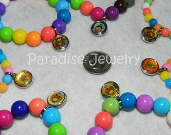 Our Lady of Guadalupe Mother Mary Virgencita Plis Charm Bracelet Kids Jewelry Bracelet First Communion Baptism Party Favors