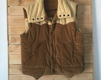 Vintage Vest // Vintage Corduroy Vest // Thick Winter Vest