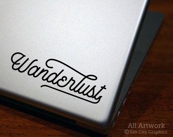 Wanderlust - Laptop Decal, Travel Decal, Wander Sticker, Vinyl Decal, Laptop Sticker, Car Decal, Car Window Decal, Bumper Sticker, Die-Cut
