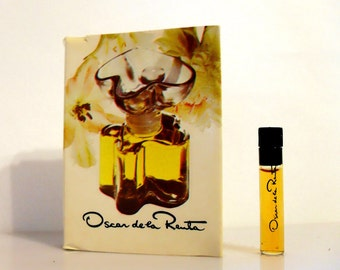 Vintage 1970s Oscar de la Renta Parfum Sample Vial on Card PERFUME