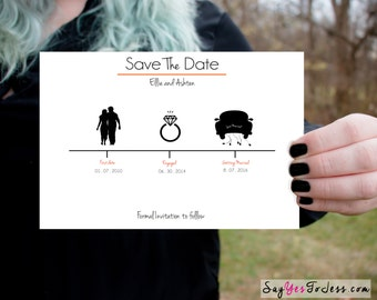 Minimalist Save The Date Wedding Invitation,  Invitation, Wedding Invitation, Minimalist Wedding Invitation, Wedding Save The date ideas