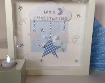Christening box frame gift
