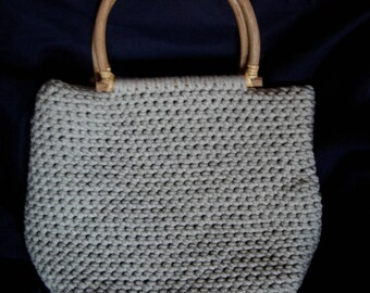 Large light grey cotton tote bag