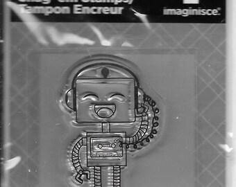 Robot Rockin' Acrylic Stamp  --  NEW  --  (#2020)