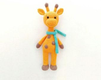 Crochet giraffe toy pattern Minimal toy Amigurumi giraffe pattern  Сrochet doll Giraffe plush toy crochet pattern Cuddly giraffe pattern