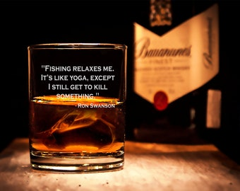 Ron Swanson Quote, Engraved Whiskey glass, Ron Swanson engraved glass,  Ron Swanson glass, great quotes Ron Swanson, Whiskey lover gift