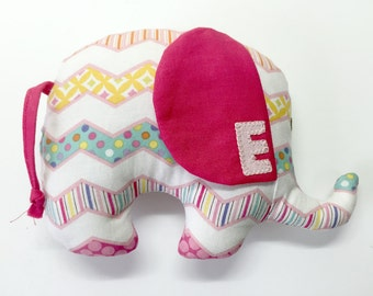 Personalized Elephant Plush Toy ~ Elephant Plushie ~ Elephant Stuffed Toy ~ Stuffed Elephant ~ Nursery Decor ~Elephant Toy ~Baby Shower Gift
