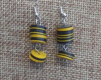 Vulcanite Earrings