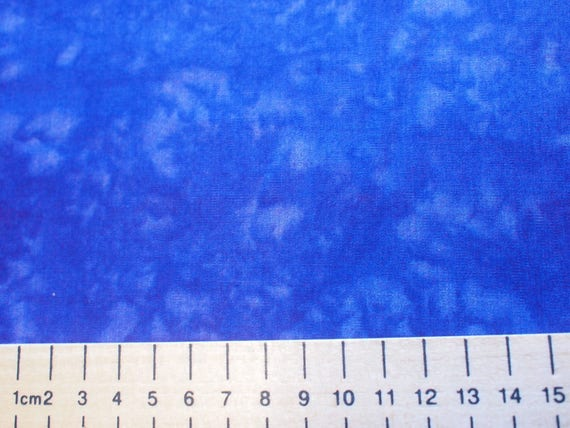 High quality cotton poplin, blue batik print