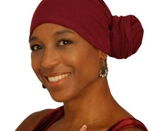 Burgundy Head Wrap % Cotton /Scarves /Bandana