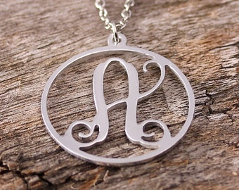 Personalized Initila Monogarm Necklace - Monogram Necklace - Initials Name Necklace