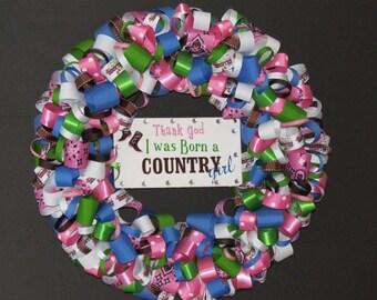 Country Girl Ribbon Wreath