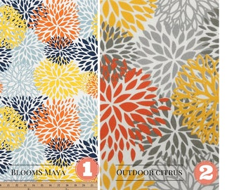 Fall Pillow Cover/Decorative Throw Pillow Cover-Choose Size/Lumbar/Square One Cover/Blooms Maya/Blooms Citrus/Autumn Fall Pillow