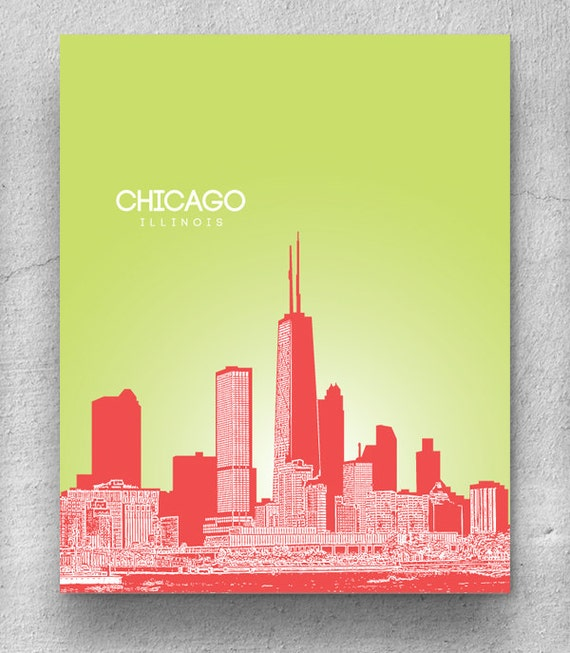 Great Chicago Skyline Wall Art Photos - Wall Art Design ...