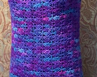 Purple Crochet Shift Dress