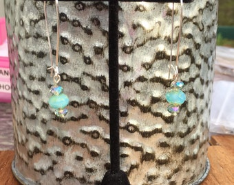 Blue/Green Dangle Earrings