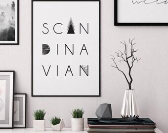 Scandinavian print, Printable wall art, typography print, scandinavian poster, modern wall art, scandinavian art, minimalist print, wall art