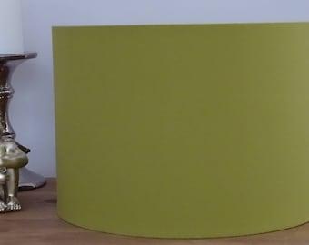 Handmade Olive Fabric Lampshade