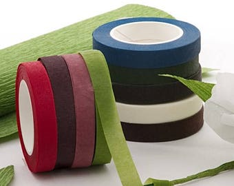 Floral Stem Tape, Stretchable Tape, Floral Tape, Craft Tape for Making Corsages, Bouquets, Paper Flowers or Boutonnieres, 60' Roll