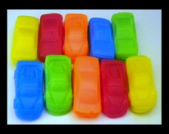 Car Soap - Mini Race Cars - 10 Soaps - Free U.S. Shipping - Cars - Soap for Boys - Party Favors, Birthdays