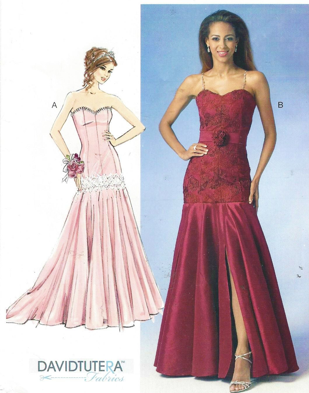 Strapless Evening Gown McCalls Sewing Pattern M7050 Size 14 16 18 20 ...