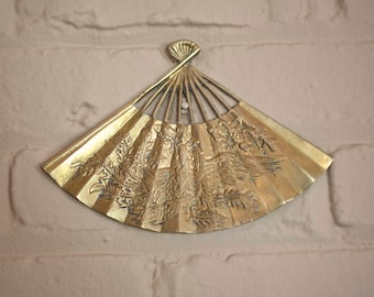 Brass Fan Decor