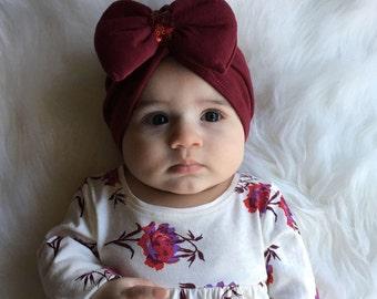 Emelie's turban, Burgundy