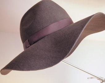Felt Hat Flapper Brown