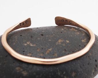 Child's Bracelet / Bronze Children's Bracelet / Personalized with Secret Message / Bronze Cuff