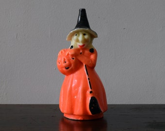 Vintage Halloween Large Gurley Witch Candle
