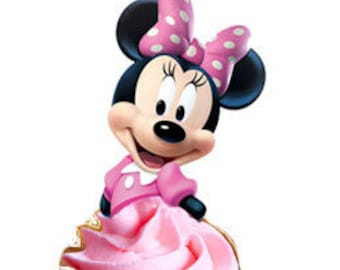 Pink Minnie Mouse Cupcake Toppers