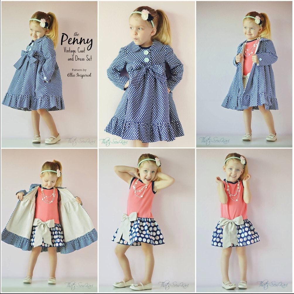 Penny vintage coat and dress pattern ellie inspired pdf zoom jeuxipadfo Choice Image