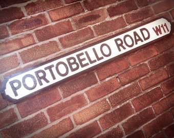 Portobello Road Faux Cast Iron Old Fashioned Street Sign