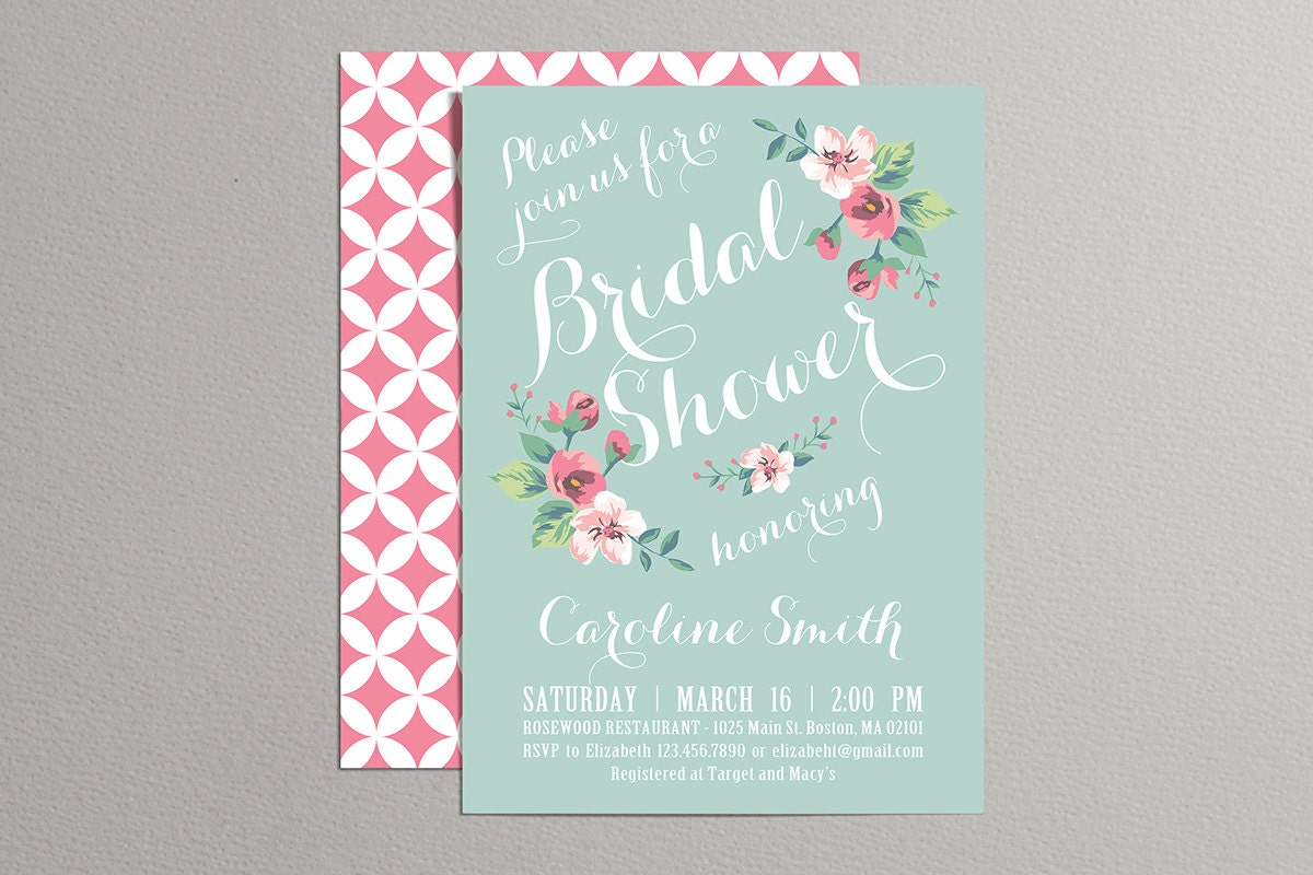 🔎zoom  Printable Bridal Shower Invites