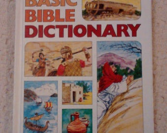 Basic Bible Dictionary, Bible Dictionaries, Religious Books, Vintage Books, Christian Education